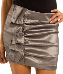 Other Mini Skirt gray silver