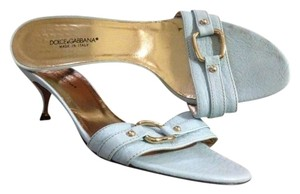 Dolce&Gabbana Dolce & Gabbana Leather Heels Designer Women's Blue Formal