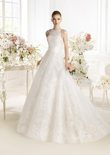 Pronovias Off White Tulle Parnnel Modern Wedding Dress Size 10 (M)