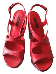 Louis Vuitton Postcard Sandal red Wedges