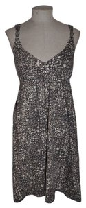 Ann Taylor LOFT short dress Gray Empire Waist Animal Print on Tradesy