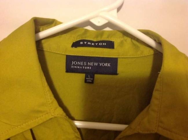 Jones New York Cotton Spandex Machine Washable Top Green