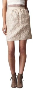 Ann Taylor LOFT Metallic Brocade Jacquard Pockets Cocktail Skirt Gold