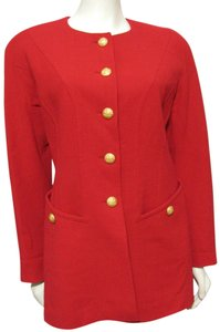 Escada Germany Wool New 100% Red Blazer