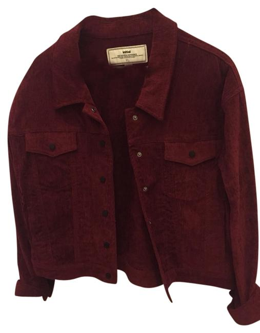 Initial Wine Red Jacket