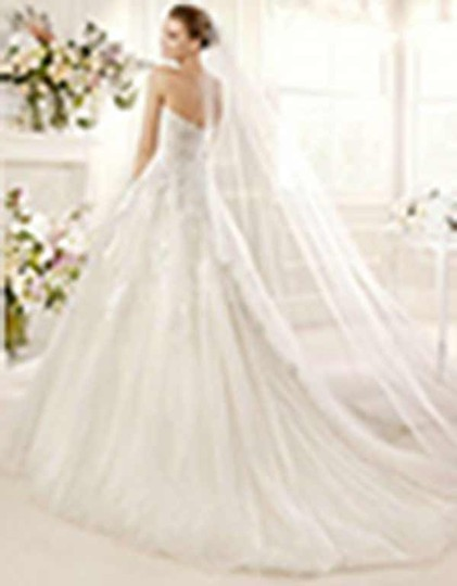La Sposa Off White Lace and Tulle Milord Traditional Wedding Dress Size 14 (L)