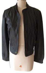 AllSaints gray Leather Jacket