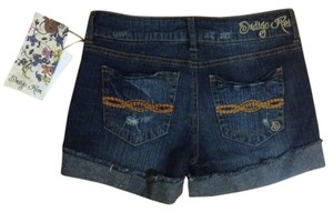 Indigo Rein Denim Shorts-Distressed