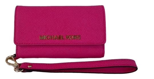 Michael Kors Electronics Multi Function Phone Wristlet in Raspberry