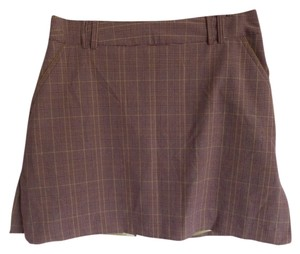 Sport Haley Skort Purple and Tan Plaid