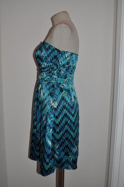 Gianni Bini Southwest Southwestern Satin Strapless Origami Dress