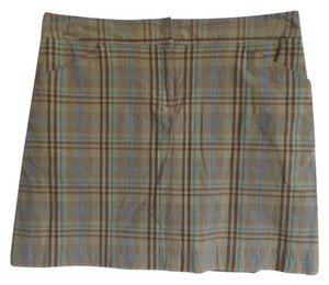 Izod Skort Brown and Blue Plaid
