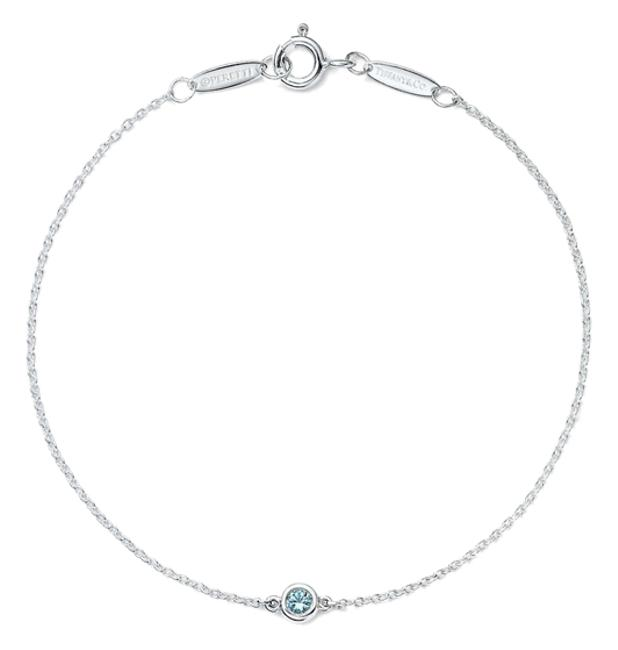 Item - Sterling Silver and Aquamarine Elsa Peretti For Color By The Yard Bracelet