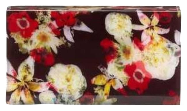 Item - Box New In Floral Lucite Minaudiere Multicolor Clutch