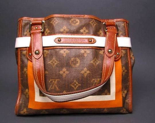 Louis Vuitton Limited Edition Monogram Canvas Tisse Rayures Tote in Brown