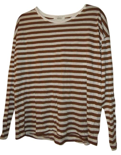Forever 21 Striped Fall T Shirt
