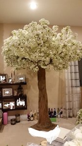 White Two 8ft Artificial Cherry Blossom Tree Reception Decoration