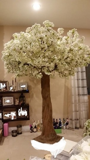 Two 8ft Artificial Cherry Blossom Tree