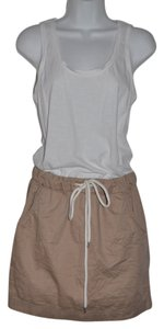 Ann Taylor LOFT short dress Khaki & White Nautical Rope Tank Top Mini Resort on Tradesy
