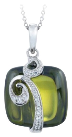 Preload https://item1.tradesy.com/images/emerald-and-silver-pendant-necklace-3547915-0-1.jpg?width=440&height=440