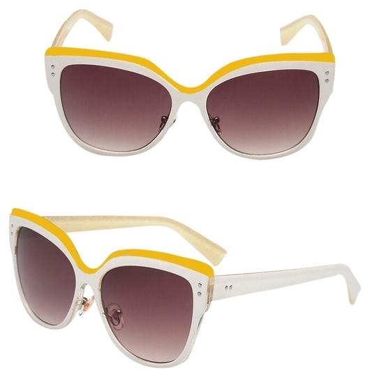Preload https://item5.tradesy.com/images/white-yellow-cat-eye-sunglasses-3547984-0-0.jpg?width=440&height=440