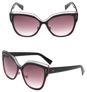 Burgundy Cat Eye Sunglasses