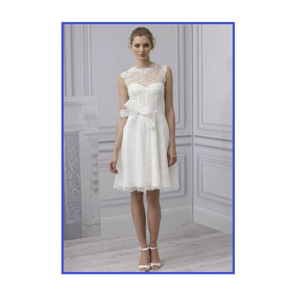 Monique Lhuillier Whilte Lace Camilla Spring 2013 Casual Wedding ...