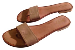 Seychelles Summer Leather Flat Nude Sandals
