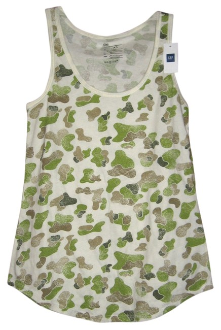 Gap Racer-back Sleeveless T-shirt Military Top Camoulage