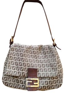 Fendi Monogram Zucca Canvas Brown Leather Trim Gold Hardware Italy Classic  Timeless Shoulder Bag. Fendi Zucca Mamma Forever Tobacco ... 70c1600c0c171