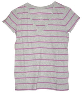 Gap 100% Cotton Short Sleeve T Shirt Grey and Purple