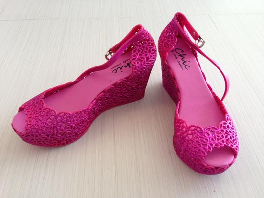Chic by Lady Couture Pink Wedges