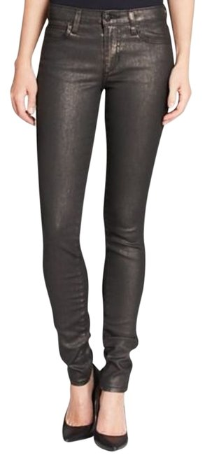 Item - Bronze Coated Ainsley Mid Rise In Bnwt Skinny Jeans Size 28 (4, S)