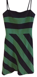 BCBGMAXAZRIA short dress Navy Blue + Green Bcbg Comfortable on Tradesy