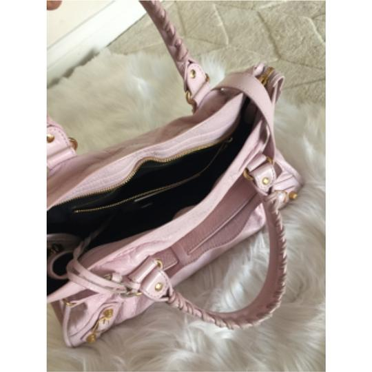 Balenciaga Rose Gold Gold Hardware Pink Pink Giant City Shoulder Bag