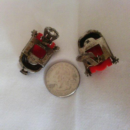 Selro Red Thai Girl Earrings Vintage Selro Selini Thai Girl Clip On Earrings