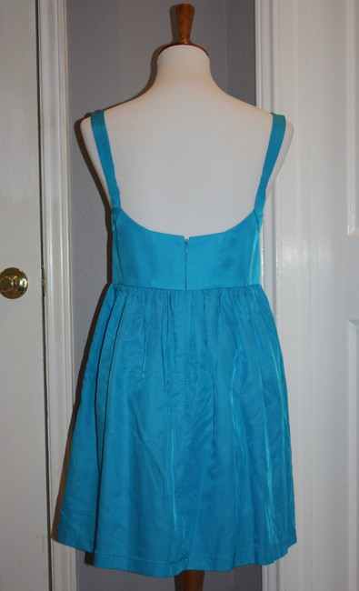 Ali Ro Cocktail Size 8 Electric Cotton A-line Skirt Dress
