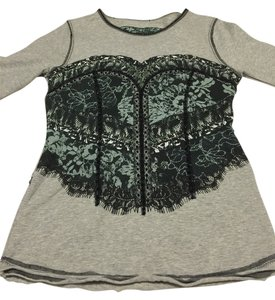 Karen Millen Top Gray/black