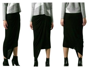 Helmut Lang Drape Wb Dynamic New With Tags Skirt Black