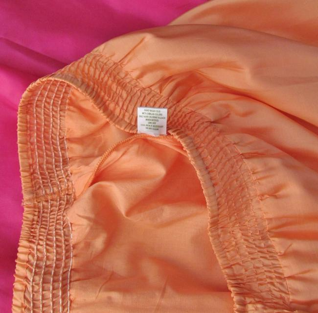 Garnet Hill Silk Full New Without Tags Maxi Skirt Orange, Coral, Pink