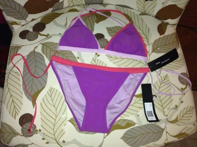 Marc by Marc Jacobs marc by marc jacobs bikini set purple swimsuit pink color blocked