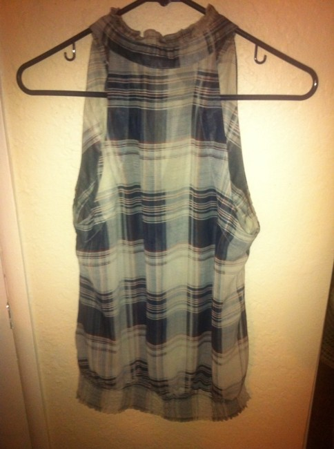 Forever 21 Top Navy Plaid