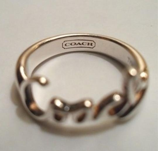 Coach COACH Sterling Silver Ring Size 7