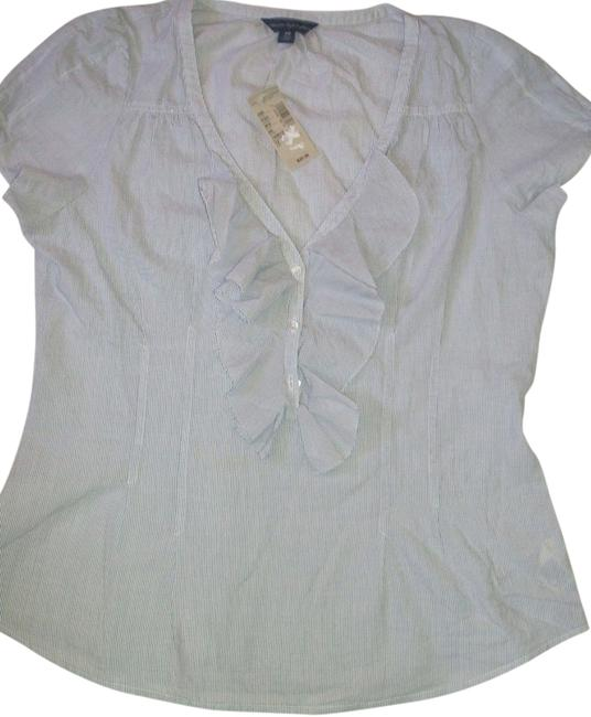 American Eagle Outfitters Top Blue/White