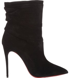 Christian Louboutin Suede Ankle Ishtar Black Boots