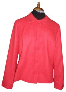 Boden Wool Bright Retro Salmon Blazer