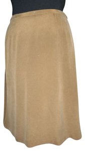 Valerie Stevens Silk Fall Wear To Work Office Skirt browns