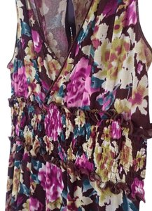 BCBGMAXAZRIA short dress Floral Multi color Bcbg Knee Length Cocktail Sleeveless on Tradesy