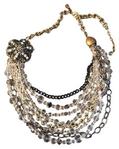 Gabriele Frantzen Glass Flower Pendant Statement Necklace