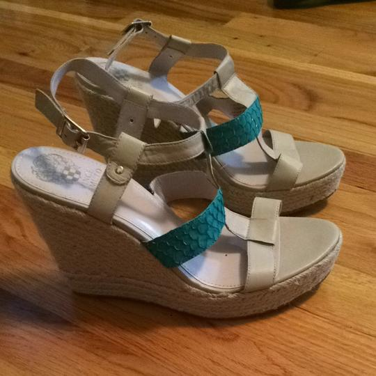 Vince Camuto Teal Wedges